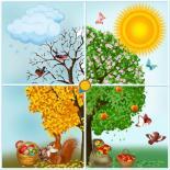 فصول السنة (الربيع والشتاء والصيف والخريف)