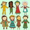 أطفال في ملابس تقليدية